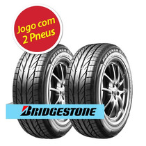 Kit 2 Pneu Aro 15 Bridgestone 195/55r15 Potenza Giii 85v