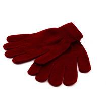 Luva Inverno Frio Feminina Adulto Lã Vermelha