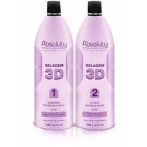 Selagem 3d Absoluty Color Cabelo 100% Liso + Brinde