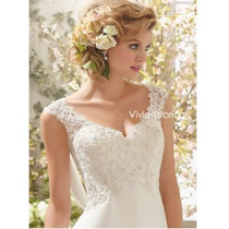 Vestido De Noiva + Véu Longo Pronta Entrega