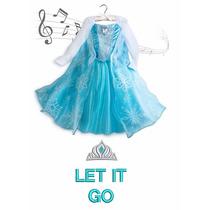 Vestido Fantasia Elsa Frozen Toca Musica Disney Store 11/12