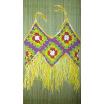 Blusa De Crochê Colorida Feminina