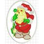 Patch Tag Bordado Papai Noel 15x11 Termocolante Cama E Mesa