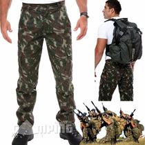 Calça Camuflada Cargo Masculina Tatica Militar Ripstop Exerc