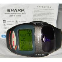 Raro Relógio Controle Remoto Universal Sharp Importado Troco