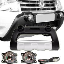 Overbump Renault Duster Front Bumper + Kit Farol De Milha