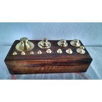 Cepo Completo Com 12 Pesos Em Bronze Para Balanças Antigas