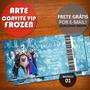 Arte Convite Ingresso Vip Aniversário Infantil Frozen Disney