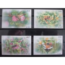 Abelhas - Fauna - 4 Blocos + 4 Selos Da Thailandia