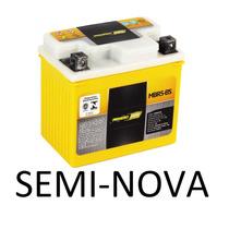Bateria De Moto Neo 105 Seminova Usada Garantia 3 Meses
