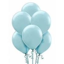 Balões São Roque N° 7 Azul Oceano Com 50 Bexigas