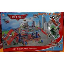 Pista Aviões Disney Aeroporto Com 2 Aviões.+ Brinde