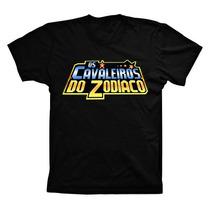 Camiseta Camisa Algodão Cavaleiros Do Zodiaco Várias Cores