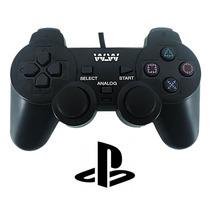 Controle Analógico Play 2 Ps2 Playstation 2 Com Fio Longo