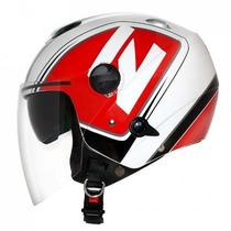 Capacete Zeus 202fb T45 Alva White/black/red