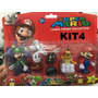 Bonecos Super Mario Collection Kit/com 4personagens 4modelos
