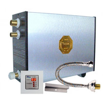 Sauna Vapor Elétrica 12kw Inox 220v Bifásica Dig. Impercap