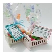 Kit Chá De Bebê Com 10 Mini Bercinhos Para Menino Ou Menina