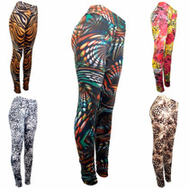 Kit 6 Legging Suplex Estampada Até Plus Size