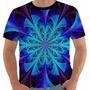 Camiseta Hippie 4 - Color - Vitral - Arte - Anos 60 Fractal