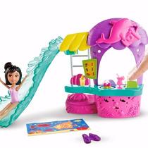 Polly Pocket Conjunto Lanchonete Parque Aquático - Mattel