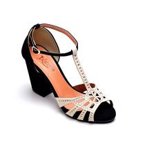Sandalia Feminina Salto Super Luxo Anabela,sapatilha,couro