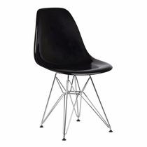 Cadeira Eiffel Charles Eames Acrílica Sólida Pc Base Cromada