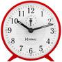 Relógio Despertador Herweg 2220 044 Vermelho - Refinado