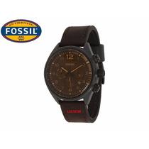 Relógio Fossil Cronografo Original Fch2782/z Pulseira Couro