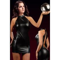 Micro Vestido Curto Coladinho Decote Grande Nas Costas