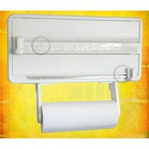 Porta Rolos 3 Suporte Papel Toalha Pvc E Alumínio