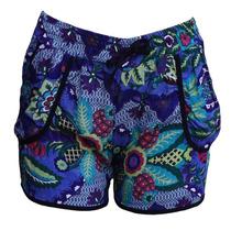 Shorts Feminino Malha Calção Curto Com Estampa Prontaentrega