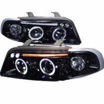 Par De Farol Audi A4 1994 1995 1996 A 2001 Mascara Negra Led