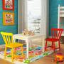 Conjunto Mesa Com 2 Cadeiras Infantis   Madeira Maciça   Aca