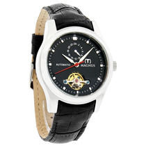 Magnus Santiago Mens Black Leather Assista M107msb32