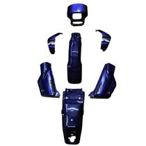 Kit De Carenagem-honda Xlr 125 + Adesivo - 8 Peças Azul 2002
