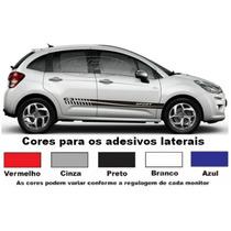 Adesivos Citroen C3 Faixa Lateral Tuning Acessório Esportivo