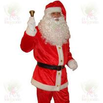 Roupa De Papai Noel Profissional Em Veludo Kit Com 10 Itens