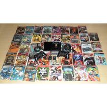 Video Game Playstation 2 Slim + 46 Jogos!!!!imperdivel!!!