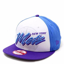 Boné Aba Reta Snapback New York Mets White/blue Original