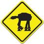 Placa Decorativa Trânsito Perigo Império Na Pista