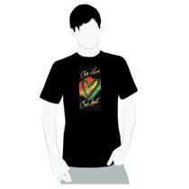 Camisa De Qualidade- Algodão- Bob Marley One Love One Heart