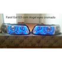 Farol Gol G3 Angel Eyes Cromado