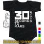 Body 30 Secunds To Mars Preto Infantil Bebê Rock Acdc