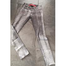 Calca Jeans Brilho Espaço Fashion 38-40 Semi Nova Strecht