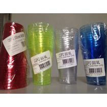 Copos Descartáveis 300ml Coloridos Com 120 Peças