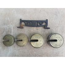 Pesos 4 Bronze De Balanças Antigas Com Suporte