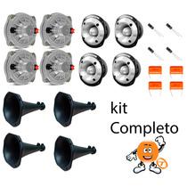 Kit 4 Driver D250x+ 4 Tweeter St400 Trio Selenium + Cornetas