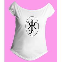 Camiseta Feminina Gola Senhor Sr Anel Aneis Hobbit 02