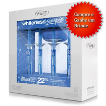 Clareador Dental Whitness Perfect 22% Completo + Brinde